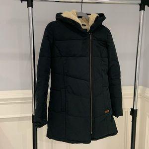 Roxy Long Puffer Jacket Fleece Lined